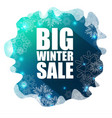 big winter sale background vector image vector image