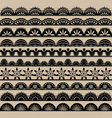 Black Lace Border set vector image vector image