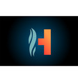 blue and orange h alphabet letter logo icon for vector image vector image