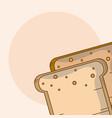 bread slices cartoon vector image vector image