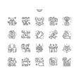 business celebrations well-crafted perfect icons vector image