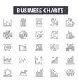 business charts line icons for web and mobile vector image vector image