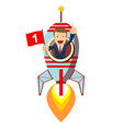businessman in rocket vector image vector image