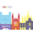 cambridge skyline pop vector image vector image