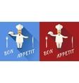Cartoon Chief Cook Character Symbol Toque Cuisine vector image