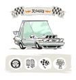 Cartoon Sport Car Set vector image vector image