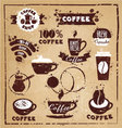 Coffee set vector image