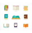 collection of books icons vector image vector image