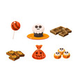 collection of colorful halloween sweets and vector image