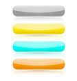 colored buttons 3d glass menu icons vector image vector image