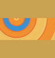 concentric circles orange and blue colors vector image