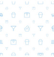 container icons pattern seamless white background vector image vector image