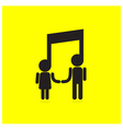 Creative music note sign icon and people sign vector image vector image