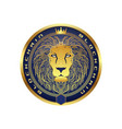 cryptocurrency and bitcoin lion logo vector image