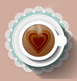 cup of coffee on a paper napkin vector image