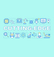 cutting edge word concepts banner medicine vector image vector image