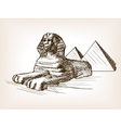 Egypt sphinx pyramid sketch vector image