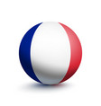 flag of france in the form of a ball vector image