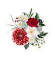 floral bouquet design element autumn winter vector image vector image