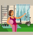 girl taking selfie in fitness center flat drawing vector image vector image