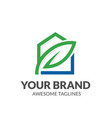 green leaf and house logo vector image