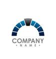 half circle logo abstract corporate symbol vector image vector image