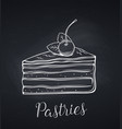 hand drawn cake icon vector image vector image
