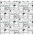 hand drawn cats pattern vector image vector image