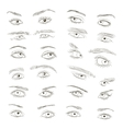Hand drawn Eyes set vector image vector image