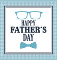 happy fathers day card greeting lettering vector image