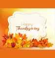 happy thanksgiving background with colorful vector image vector image