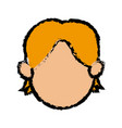 head face boy kid son image vector image
