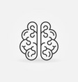 human brain concept icon in outline style vector image