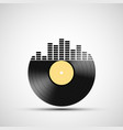 icon vinyl record with a sound equalizer vector image vector image