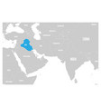 iraq blue marked in political map of south asia vector image vector image