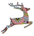 Jumping deer in Christmas colors vector image vector image