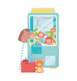 kids toys object amusing cartoon teddy picker vector image vector image