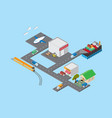 logistics and transportation isometric view vector image