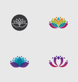 lotus flower logo and symbol vector image vector image