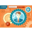 Male bank director profession concept vector image