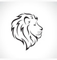 male lion head design on a white background wild vector image vector image