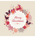 Merry Christmas label retro composition file vector image vector image