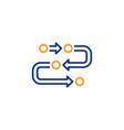 methodology line icon development process sign vector image