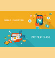 mobile marketing and pay per click vector image vector image