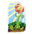 monster flower vector image