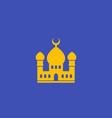 mosque muslim building icon vector image