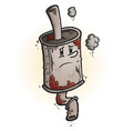 old rusty muffler cartoon character vector image vector image