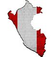 Peru map with flag inside vector image