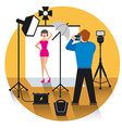 photo studio concept icon vector image vector image
