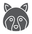 racoon glyph icon animal and zoo coon vector image vector image